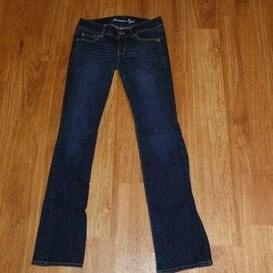 AEO slim boot darker wash jeans
